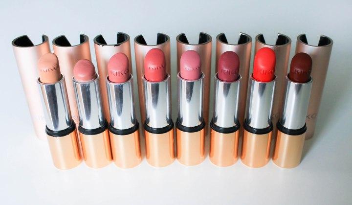 kiko velvet mat - satin lipstick