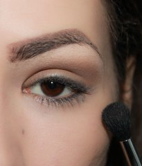 2. take matte eyeshadow and apply it on outer crease blending it upwards. This eyeshadow is used as a base; Brush- Sigma Tapered Blending E40, Eyeshadow- UD Naked palette Naked