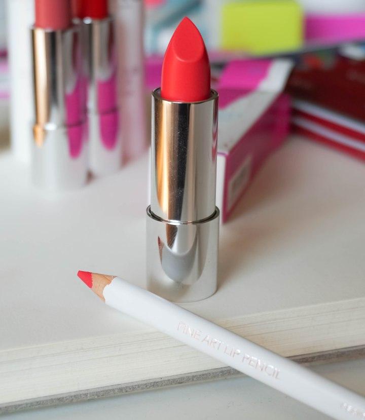 Colour Click lipstick 03, Fine Art lip pencil 03