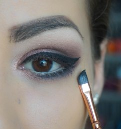 Create the cat eye, use mascara, apply falsies, another coat of mascara, don't ever ever forget to conceal under your eyes :)