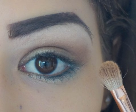 apply matte brown eyeshadow as a base; shade- naked; brush- Zoeva 227