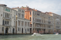 traditional Venetian buildings from 15th century combining Gothic, Byzantine and Moorish architecture