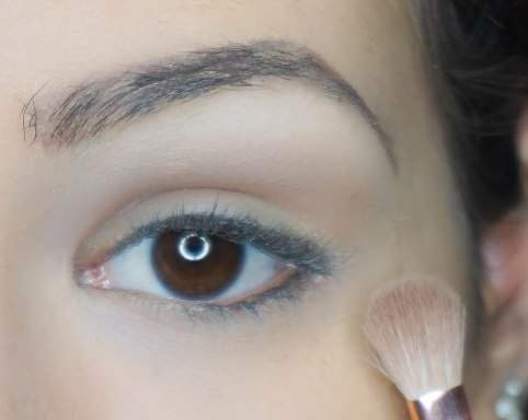 Highlight under your brow bone then apply matte base eyeshadow for easier further blending; UD Naked 2; Z 227