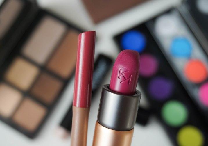 KIKO Milano Velvet passion matte lipstick 314 and Evelasting Colour lip liner 413
