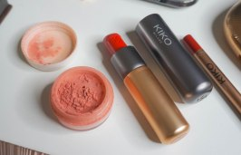 Everyday minerals blush Rhapsody in Peach and KIKO Milano Velvet Passion 311 Matte lipstick