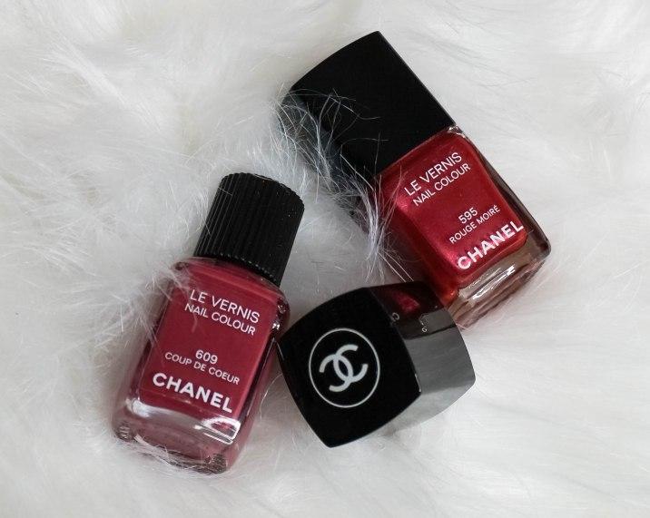 Chanel Le Vernis 609 Coup de Coeur, Chanel Le Vernis 595 Rouge Moré
