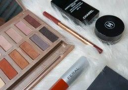 Urban Decay Ultimate Basics palette, Kiko Milano Creamy Colour lip liner 320 and Feral Cosmetics liquid lipstick Lustful