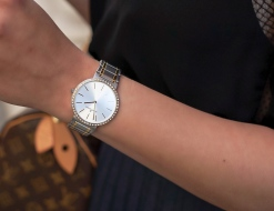 Jacques Lemans timepiece with Swarovski crystals